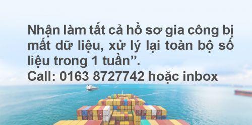 Dịch vụ khai báo hải quan hàng gia công sản xuất, xuất khẩu